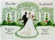 Janlynn From This Day Forward Wedding Sampler Cross Stitch Kit