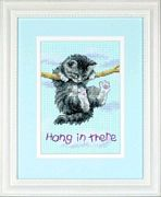 Hang On Kitty - Sunset Cross Stitch Kit