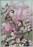 Chickadees in Spring - Dimensions Cross Stitch Kit