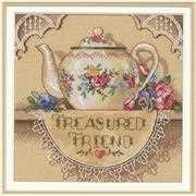 Dimensions Treasured Friend Teapot Cross Stitch Kit