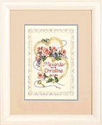Dimensions United Hearts Wedding Record Cross Stitch Kit