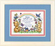 Dimensions God's Babies Birth Record Birth Sampler Cross Stitch Kit