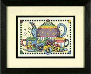 Dimensions Teatime Pansies Cross Stitch Kit
